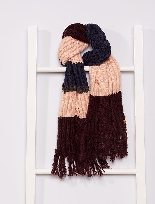 Sciarpa in maglia tricot                                         ROSSO
