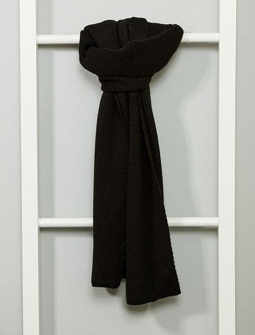 Sciarpa lavorata a maglia                                         nero Uomo