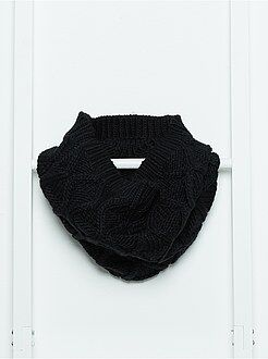 Sciarpe, guanti, berretti - Sciarpa snood maglia a trecce