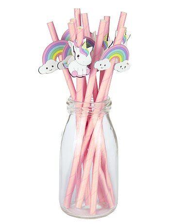 Set 10 cannucce unicorni - Kiabi
