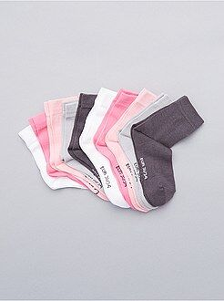 Set 10 paia calzini tinta unita