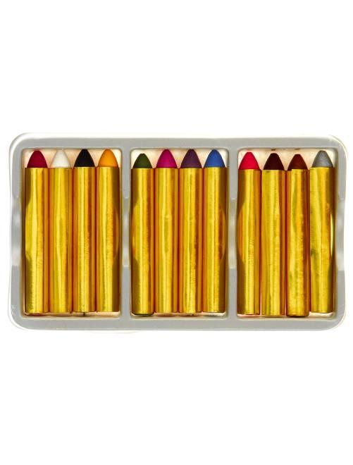Set 12 matite grasse per trucco                             multicolore Accessori