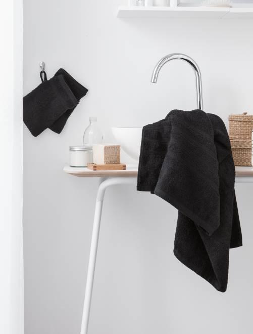 Set 2 asciugamani 30 x 50 cm                                                                                                                                         nero Casa