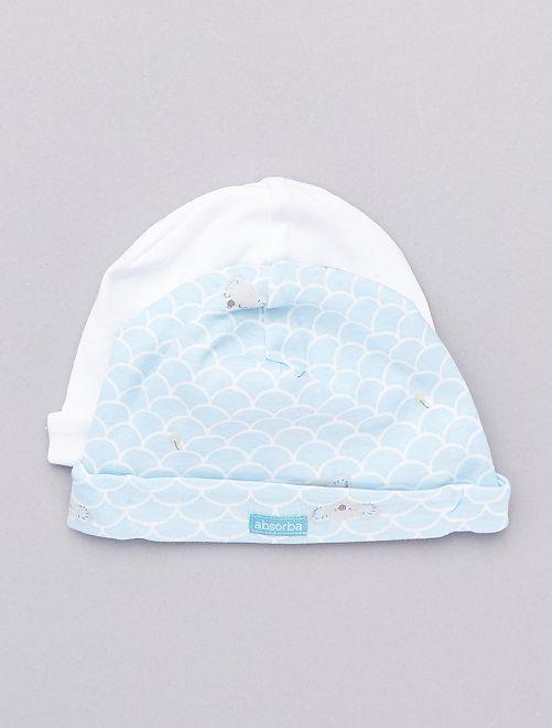 Set 2 berretti 'Absorba'                             bianco/blu