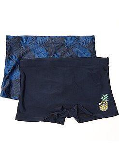 Costumi da bagno, spiaggia - Set 2 boxer da bagno stampati - Kiabi