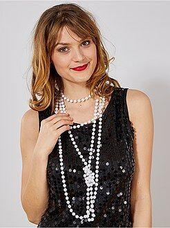 Travestimenti donna - Set 2 collane lunghe di perle