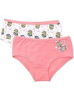 Bambina 3-12 anni Set 2 culotte 'Minions'