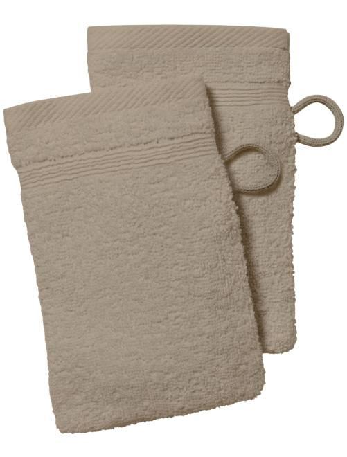 Set 2 guanti da toilette                                                                                                                                                     beige
