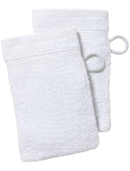 Set 2 guanti da toilette                                                                     bianco