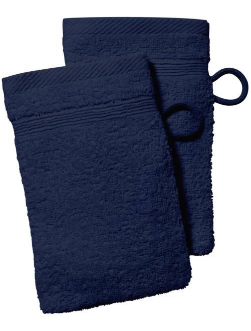 Set 2 guanti da toilette                                                                                                                                                                             blu marine Casa