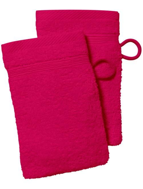 Set 2 guanti da toilette                                                                                                                                         fucsia Casa
