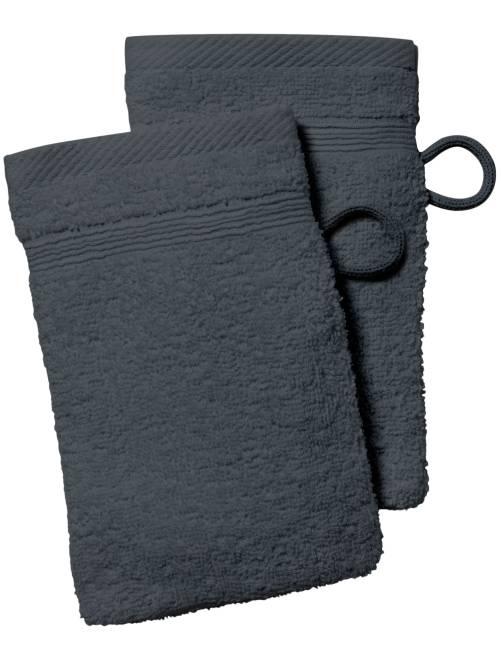 Set 2 guanti da toilette                                                                                                                                                     grigio scuro