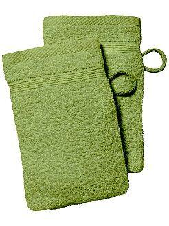 Asciugamano - Set 2 guanti da toilette - Kiabi