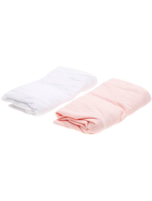 Set 2 lenzuola con angoli                                                     rosa Neonata