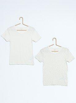 Biancheria intima - Set 2 magliette puro cotone - Kiabi