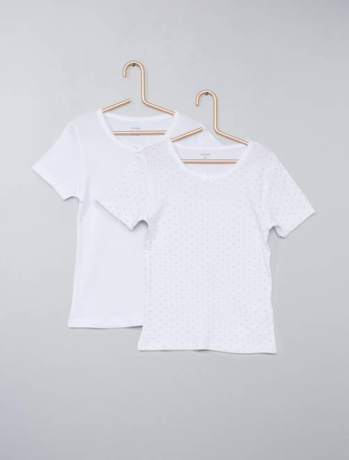 Set 2 magliette puro cotone                             bianco