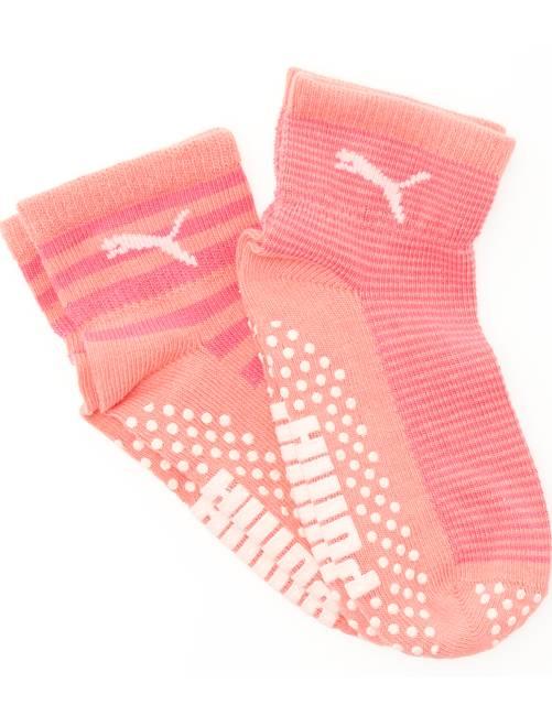 Set 2 paia calzini antiscivolo 'Puma'                                         rosa Infanzia bambina