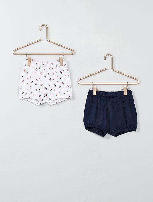 Set 2 pantaloncini                                                     BLU Neonata