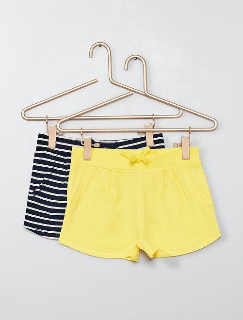 Set 2 pantaloncini leggeri                                 BLU Infanzia bambina