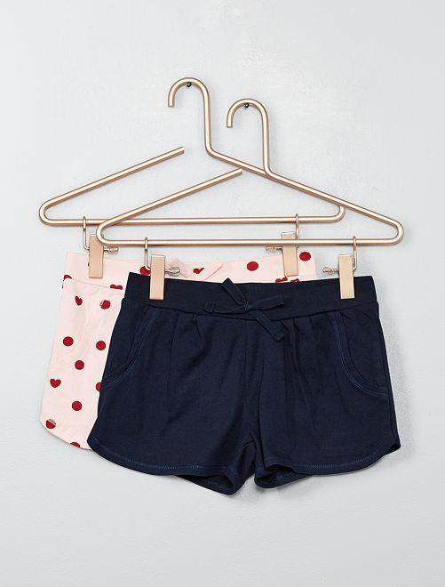 Set 2 pantaloncini leggeri                                                     ROSA Infanzia bambina