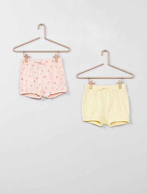 Set 2 pantaloncini                                         ROSA Neonata