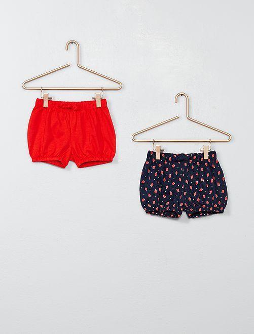 Set 2 pantaloncini                                         ROSSO Neonata