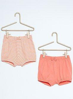 Short, bermuda - Set 2 pantaloncini spiaggia cotone