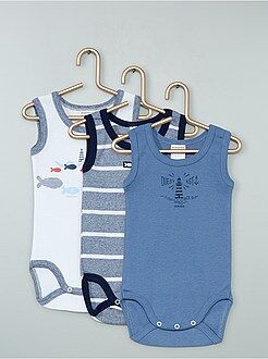 Bambino 0-36 mesi - Set 3 body senza maniche 'Absorba' - Kiabi