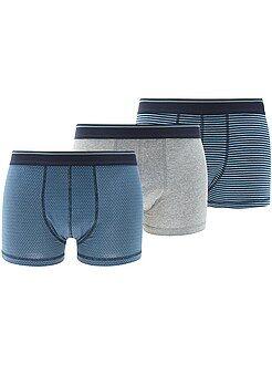 Boxer basic - Set 3 boxer cotone stretch