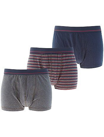 Set 3 boxer cotone stretch - Kiabi