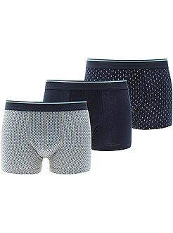 Intimo - Set 3 boxer cotone stretch