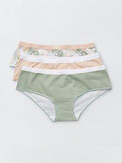 Culotte, mutandine, perizomi - Set 3 boxer 'Les Pockets' di 'DIM' - Kiabi