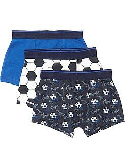 Biancheria intima - Set 3 boxer stampa 'football' - Kiabi