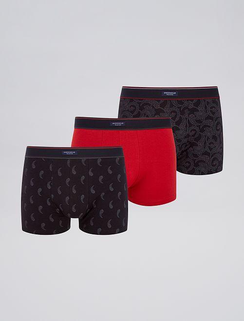 Set 3 boxer stretch                                                     GRIGIO