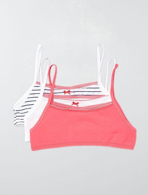 Set 3 brassiere 'bagnanti' 'Absorba'                             bianco/rosa