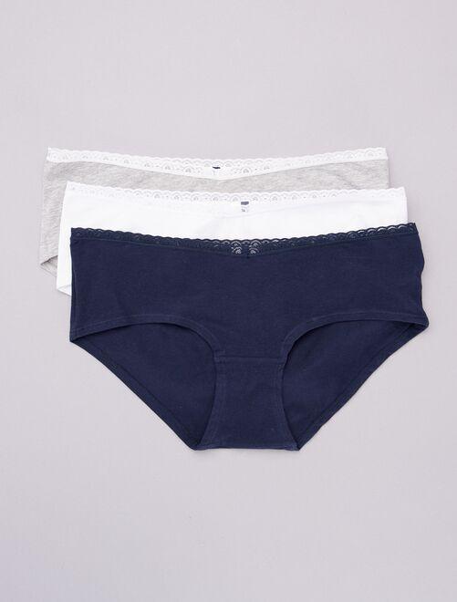 Set 3 culotte premaman 'eco-design'                                         bianco