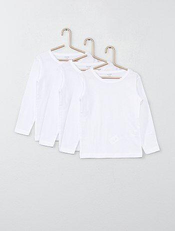 Set 3 maglie cotone maniche lunghe - Kiabi