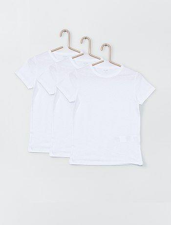 Set 3 magliette bianche - Kiabi