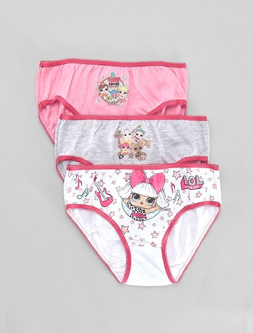 Set 3 mutandine 'LOL Surprise!'                             ROSA Infanzia bambina