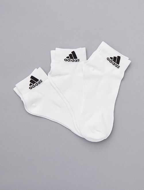 Set 3 paia calzini 'Adidas'                                                     BIANCO Uomo