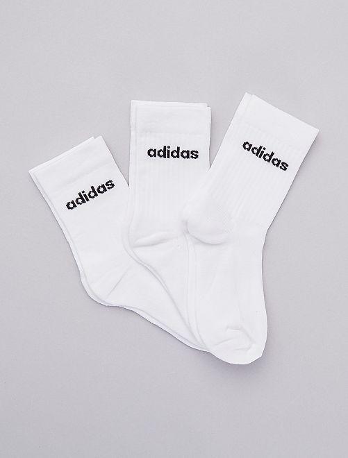 Set 3 paia calzini 'Adidas'                             BIANCO