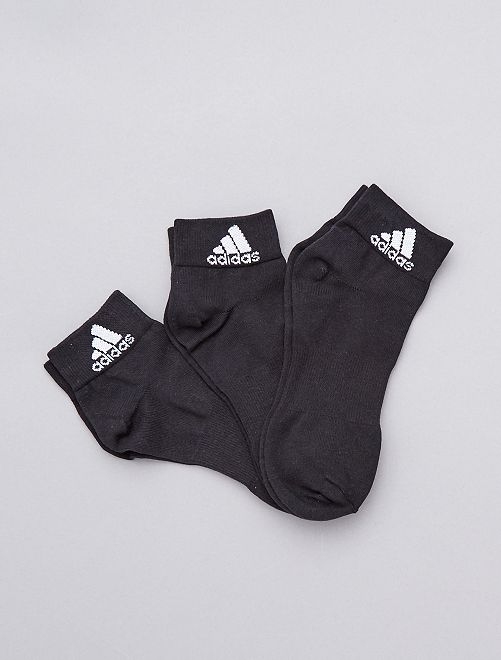 Set 3 paia calzini 'Adidas'                                                     NERO Uomo