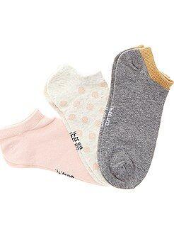 Collant, calze - Set 3 paia calzini alla caviglia - Kiabi