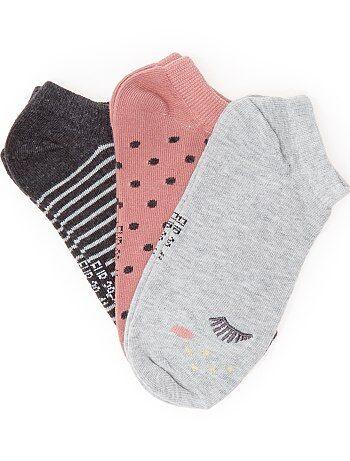 Set 3 paia calzini alla caviglia - Kiabi
