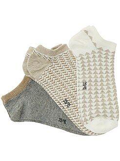 Intimo dalla S alla XXL - Set 3 paia calzini alla caviglia - Kiabi