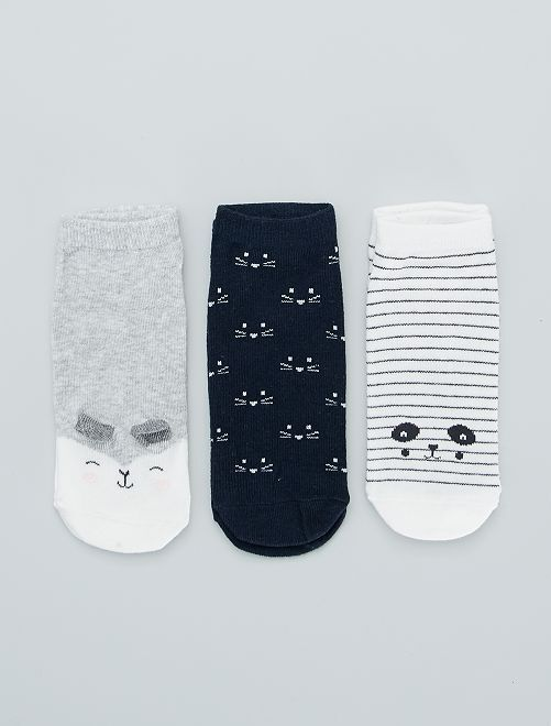Set 3 paia calzini alla caviglia                                                                             BLU