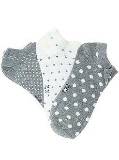 Set 3 paia calzini alla caviglia invisibili