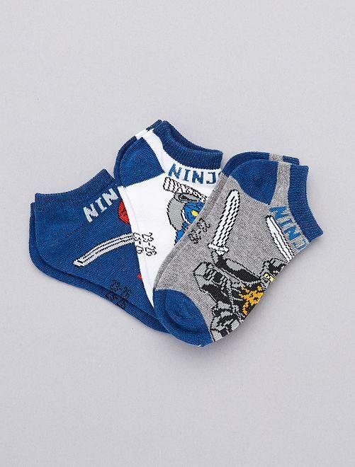 Set 3 paia calzini alla caviglia 'Ninjago'                             GRIGIO Infanzia bambino