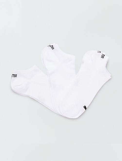 Set 3 paia calzini alla caviglia 'Puma'                                                                             bianco