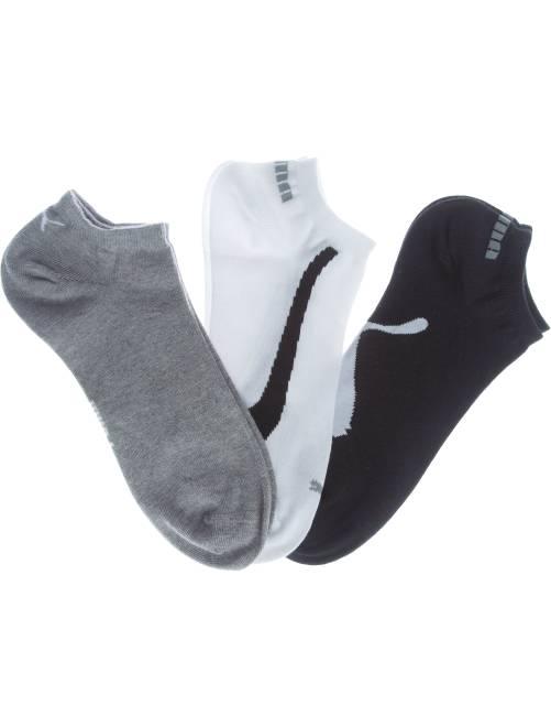 Set 3 paia calzini alla caviglia 'Puma'                                         bianco/grigio/nero Uomo